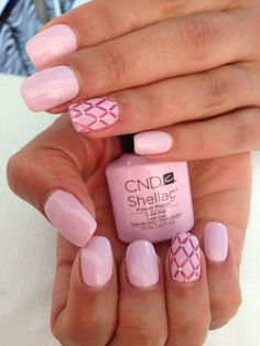 CND Shellac Cake Pop and Sultry Sunset Nail Art