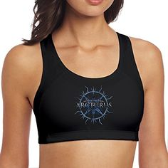 950e3a1b50 Arcturus Band The Sham Mirrors Crashland Woman s Collectible Printed Yoga Sports  Bra at Amazon Women s Clothing store