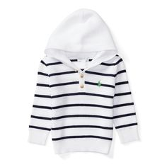 Supremely soft cotton makes this nautical-inspired layer just as comfortable as it is cute.
