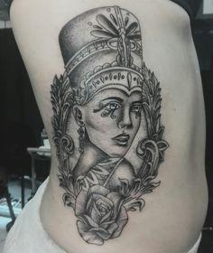 Egyptian queen tattoo  Rib