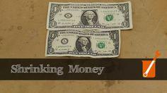 Shrinking paper money with ammonia