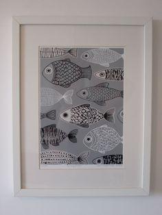 Grau Fisch limitierte Auflage Giclee print von EloiseRenouf auf Etsy