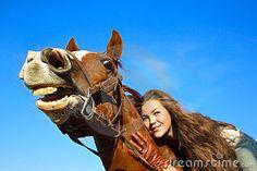 Pferd mit einer Richtung der Stimmung