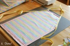 Glorious Treats » Easy Sew Kid Aprons    Great favor idea for a cupcake or cooking party!!