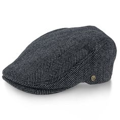 Grey Main Street - Walrus Hats Tweed Herringbone Ivy Cap. Driving Cap f882826c77fb