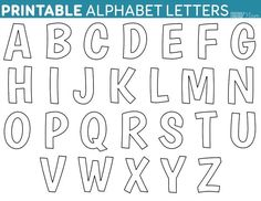 Download printable free alphabet templates