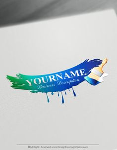 Create a Painter Logo Free - Paint brush Logo Templates - What is Your Painting Style? Free Logo Templates, Free Business Card Templates, Logo Design Template, Create A Logo Free, Painting Logo, Paper Logo, Creative Logo, Creative Ideas, Business Logo Design
