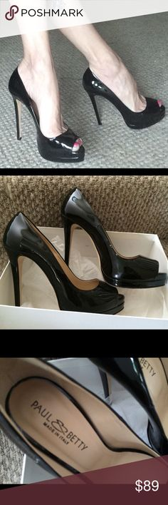 Selling this PAUL & BETTY ITALIAN PATENT LEATHER PUMPS 40 9/9.5 in my Poshmark closet! My username is: lauracat7. #shopmycloset #poshmark #fashion #shopping #style #forsale #Paul & Betty #Shoes