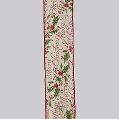 "Red and Ivory ""Merry Christmas"" Double Wire Christmas Craft Ribbon 2.5"" x 60 Yards -- Check out the image by visiting the link."