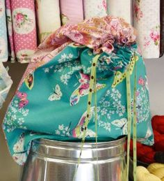 For those who are looking to celebrate National Craft Month with an easy sewing project, there's the Simple Fat Quarter Bag, which makes a great beach or grocery store tote.