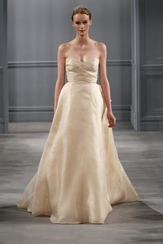 Monique Lhuillier- champagne ball gown #weddingdress