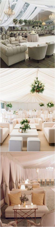 elegant tented Wedding Reception Lounge Area Ideas #wedding #weddingideas #weddingdecor