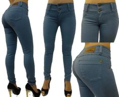 Levanta Cola Push-up Grey Skinny Jeans  Brand: Latin Jeans  ORIGINAL Made in Colombia