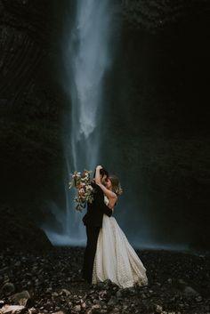 Latourell Falls Oregon Waterfall Elopement. Freckled Fox Photography.