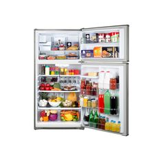 Top-Freezer Fridge with Ice Maker - Fingerprint-Resistant Stainless Steel Apartment Size Refrigerator, Kenmore Refrigerator, Top Freezer Refrigerator, Fridge Decor, Kenmore Elite, Energy Star, Painting Cabinets, Cabinet Doors, Bathroom Medicine Cabinet