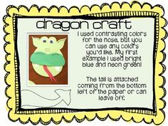 Much like the sly fox or big bad wolf, the dragon usually gets the short end of the stick in a story. I made this to accompany the story Room on the Broom, but it could be used as a point of view writing assignment for any story with a dragon antagonist.Comes with all templates for making the dragon craft plus writing paper with normal and handwriting lines.