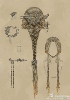 Nice for medieval drawing and fairies. Nice for medieval drawing and fairies. The post Romantic hair style. Nice for medieval drawing and fairies. Romantic Hairstyles, Braided Hairstyles, Fashion Hairstyles, Fantasy Hairstyles, Fairy Hairstyles, Mermaid Hairstyles, Chinese Hairstyles, Medieval Hairstyles, Drawing Hairstyles