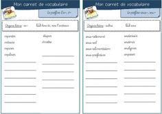carnet de vocabulaire (préfixes, suffixes...)