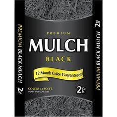 Black Rubber Mulch Espresso Bag Package Groundsmart 12