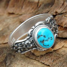 Spoon Ring with Turquoise