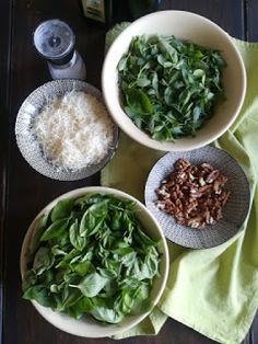 PASTU domov: Domácí bazalkové pesto Pesto, Palak Paneer, Spinach, Vegetables, Ethnic Recipes, Vegetable Recipes, Veggies