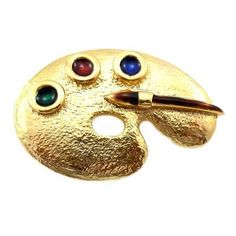 Brooches Store Gold Plated & Enamel Painters Palette Brooch by BROOCHES STORE, http://www.amazon.co.uk/dp/B007ZD4A1U/ref=cm_sw_r_pi_dp_XC3Vqb1481YXS