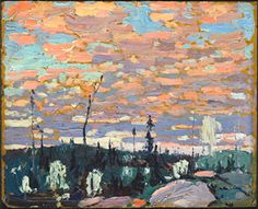 Hand painted reproduction of the painting Sunrise by Tom Thompson. Commission your beautiful hand painted reproduction of Sunrise. Canadian Painters, Canadian Artists, Albert Camus, Landscape Art, Landscape Paintings, Abstract Paintings, Group Of Seven Paintings, Tom Thomson Paintings, Catalogue Raisonne