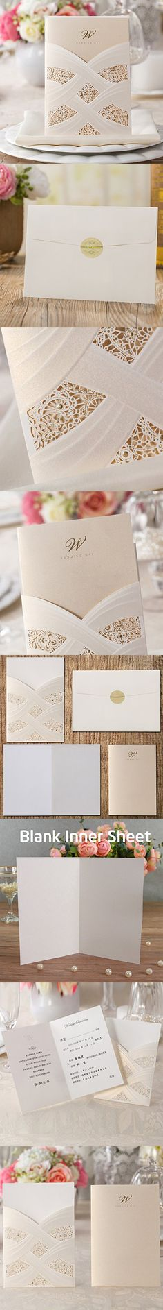 Wishmade 50x gold laser cut square wedding invitation cards kits wishmade 50x gold laser cut square wedding invitation cards kits with embossed hollow floral favors bridal shower engagement birthday baby shower stopboris Image collections