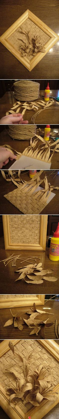 Cool craft with paper mat and a floral thingy