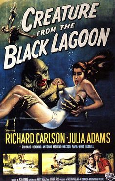 Creature from the Black Lagoon classic poster.