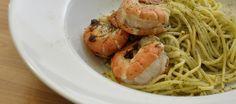 Rezept für leckere Spaghetti aglio e olio e gamberetti (Scampi) und weitere leckere Rezepte.