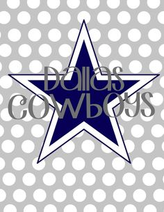 Dallas Cowboys 8.5x11 Digital File Print and Frame. by KaylaJaid, $6.00