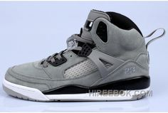 newest 0ede5 e572e Michael Ladies Style Jordan Spizike Id Fluff Retro Cool Grey and Black