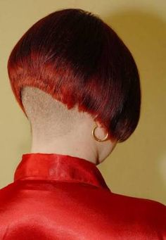 Ultra short bob with shaved nape