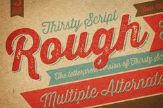 Thirsty Rough Complete Family by Yellow Design Studio on Creative Market