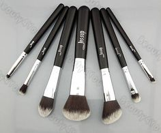 Jessup Pro MakeUp Cosmetic Set Eyeshadow Foundation wood Brush blusher Tools set