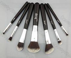 Jessup Pro MakeUp Cosmetic Set Eyeshadow Foundation wood Brush blusher Tools set