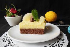 Retete Culinare - Prajitura cu crema de lamaie si bucati de ananas
