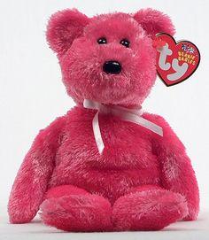 Sherbet (hot pink) - bear - Ty Beanie Babies