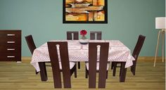 Picture of Mollino 6 Seat Dinning set Dinning Set, Dining Table, Interiors Online, Teak Wood, Interior Design, Modern, Furniture, Home Decor, Nest Design
