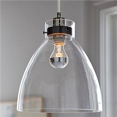 60W E27 Minimalist Glass Pendent Light