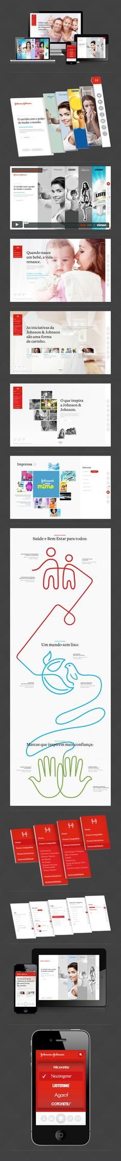 Johnson & Johnson by James Eduardo, via Behance *** The Johnson & Johnson page is a place for community members to connect with our company, and learn about our Corporate initiatives and programs, including those in health and wellness, philanthropy, and sustainability.