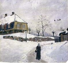 Edvard Munch - Øvre Foss in Winter (1881-82).