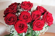 Buquê De Rosas, Bacará, Rosas Vermelhas, Dia Das Mães
