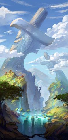 ArtStation - Field of giants, Лена Доронина