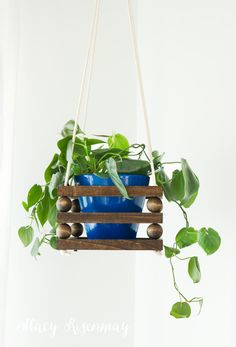 Wood Bead Planter | Not JUST A Housewife