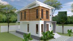 Small Home design Plan with 3 Bedroom - SamPhoas Plan Duplex House Design, Simple House Design, Minimalist House Design, Minimalist Home, Bedroom House Plans, House Rooms, Small House Plans, House Floor Plans, Model House Plan