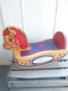 70's Vintage Rory Rocking Horse/ Vintage by JulesCristenVintage, $29.00