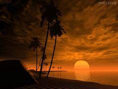 Lindo pôr do sol, imagem 3D para download | Papéis de parede para