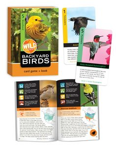 Play card games and learn about backyard birds with these cards from Birdcage Press.